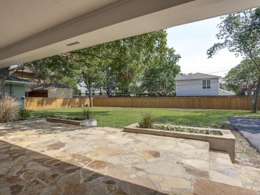4242 Walnut Hill Backyard