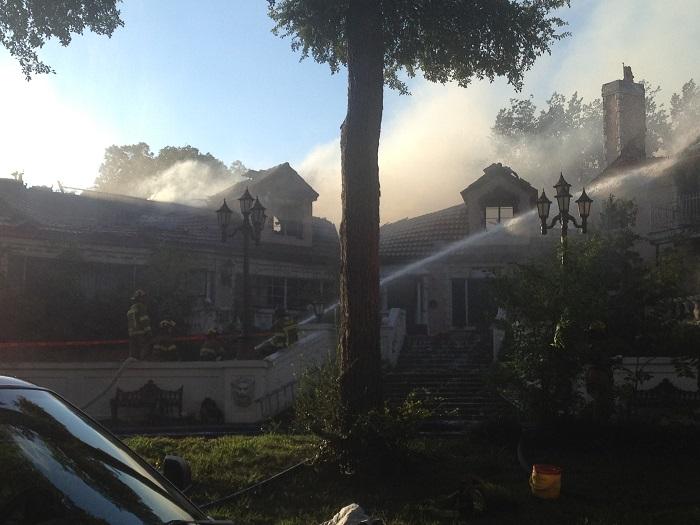 Grandwick front burning